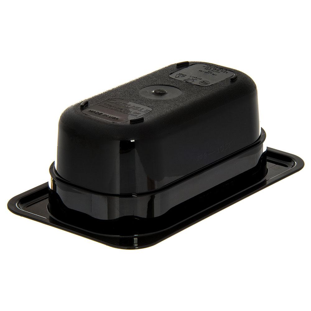 "Carlisle 3088603 StorPlus High Heat Food Pan - 1/9 Size, 2.5""D, Black"