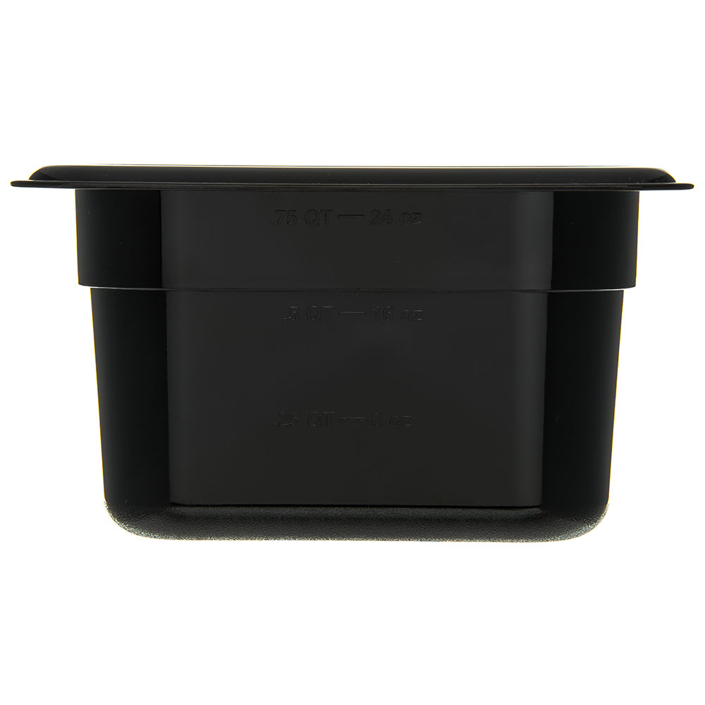 "Carlisle 3088703 StorPlus High Heat Food Pan - 1/9 Size, 4""D, Black"