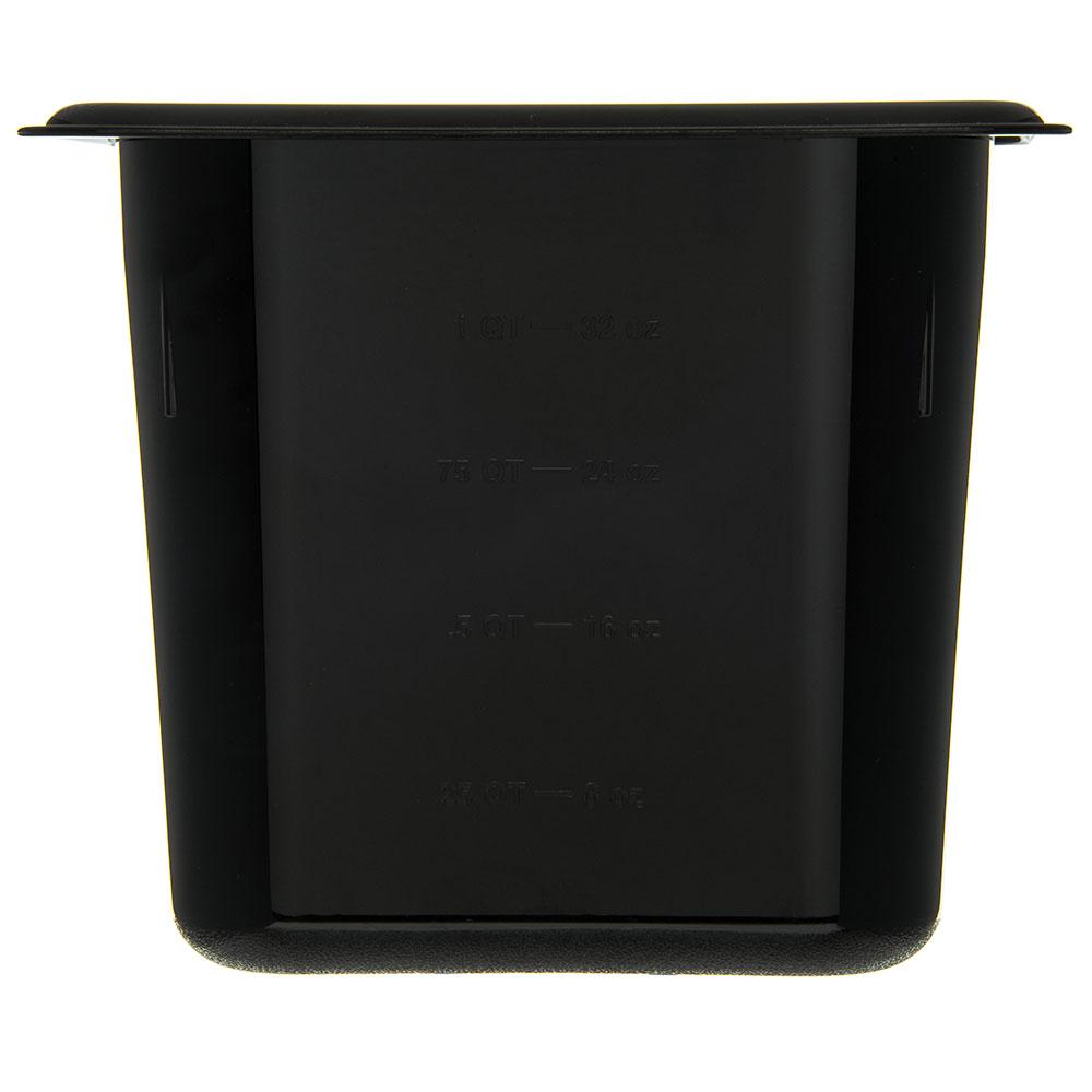 "Carlisle 3088803 StorPlus High Heat Food Pan - 1/9 Size, 6""D, Black"
