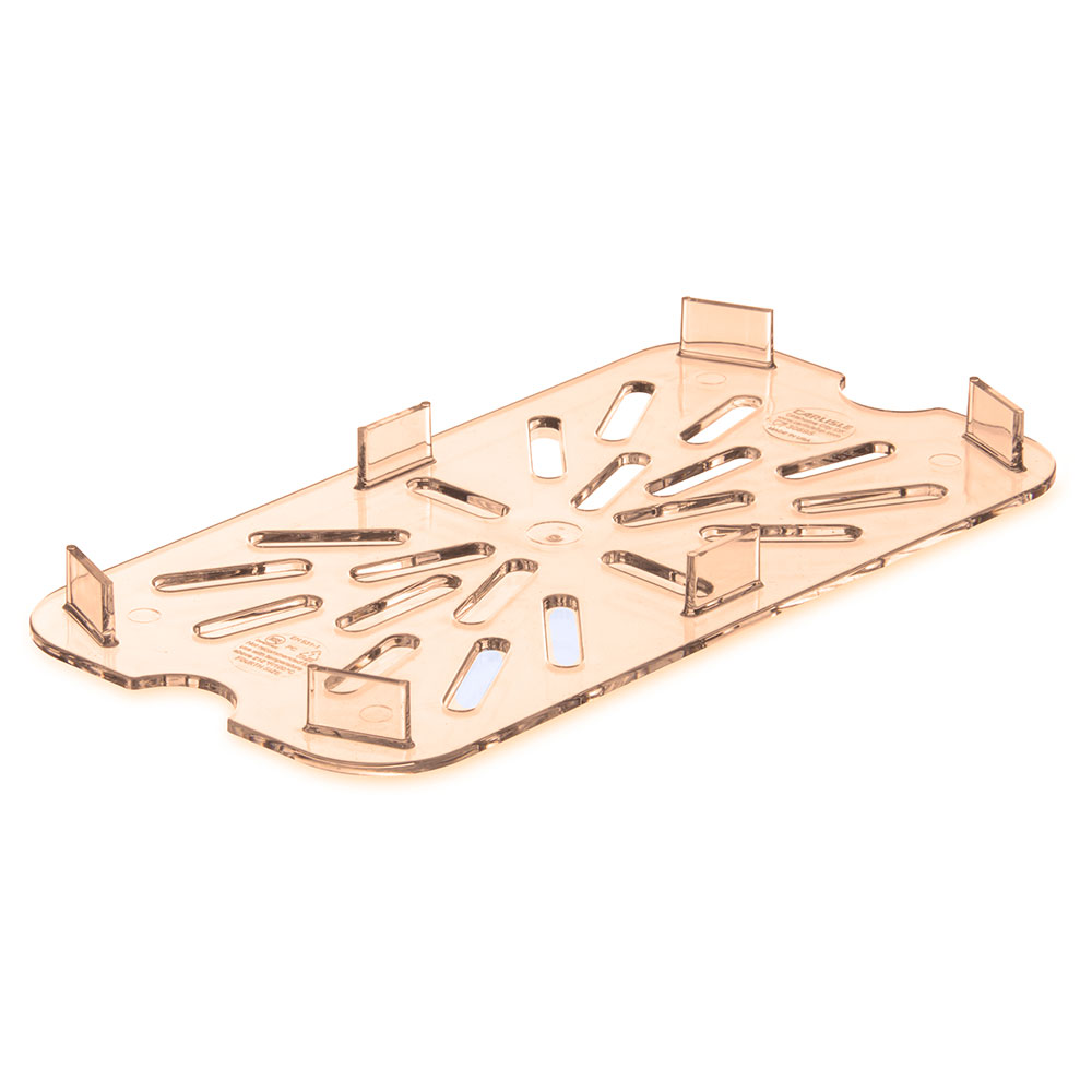 Carlisle 3089513 1/4 Size High Heat Drain Shelf - Amber