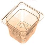 Carlisle 3089613 1/6 Size High Heat Drain Shelf - Amber