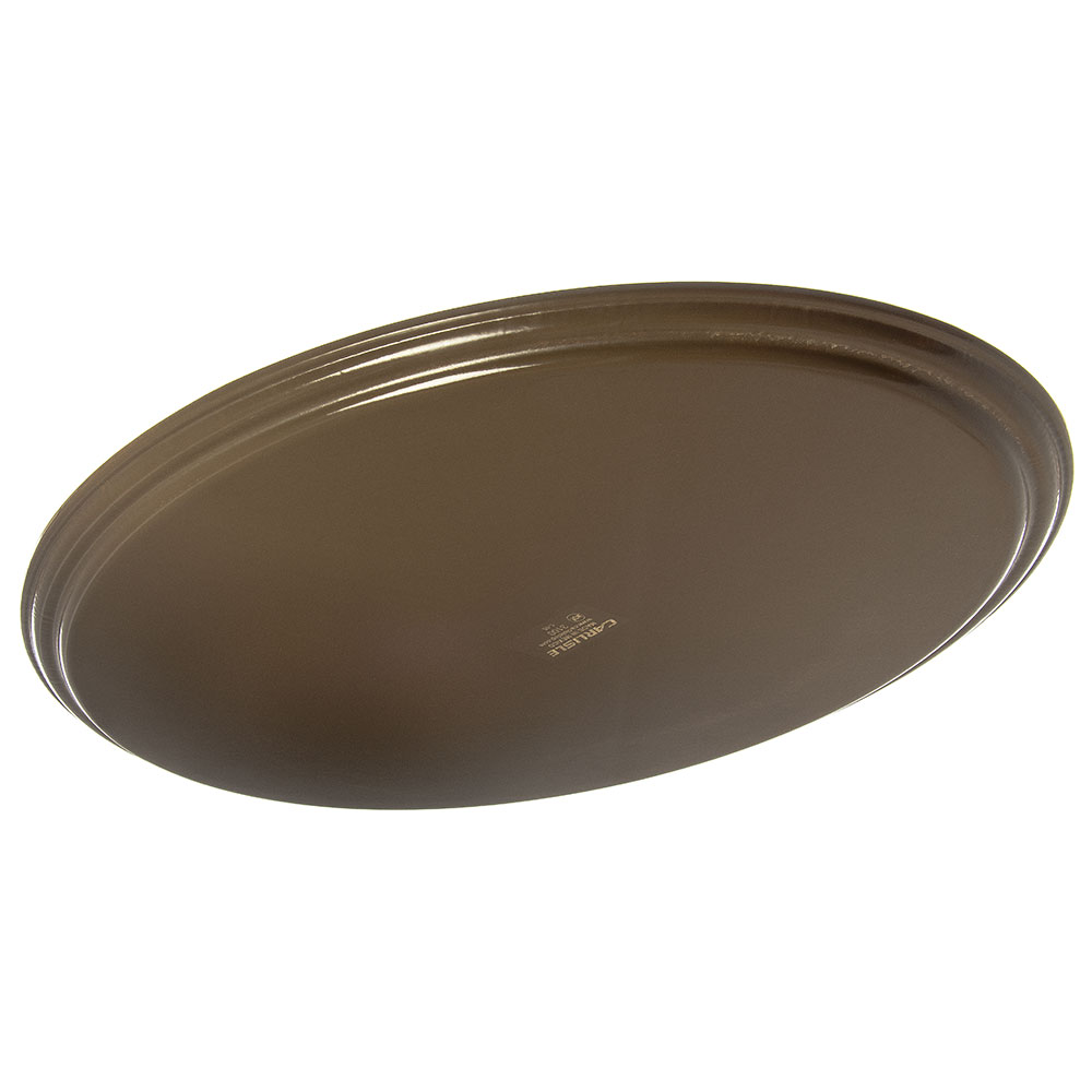 "Carlisle 3100GR2076 Oval Serving Tray - 31-1/2x23-1/2"" Brown"