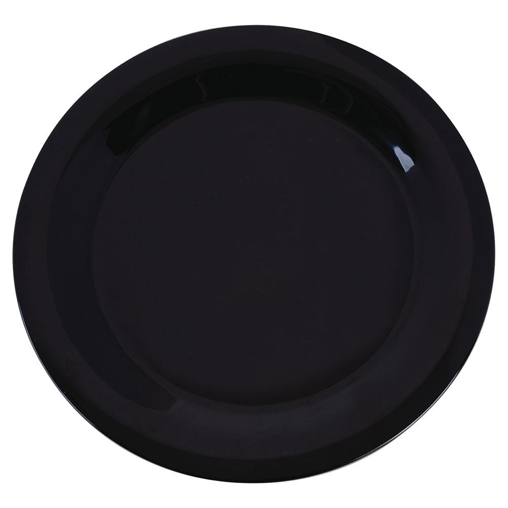 "Carlisle 3300203 10-1/2"" Sierrus Dinner Plate - Melamine, Black"