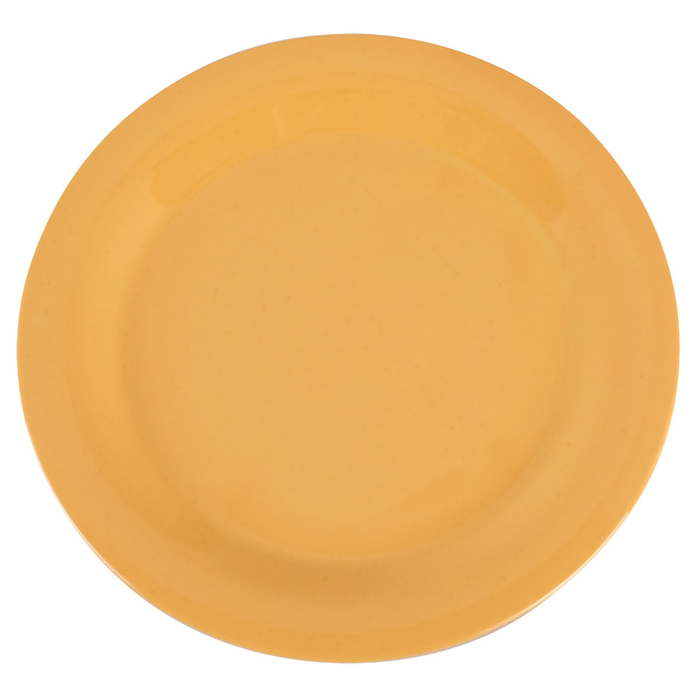 "Carlisle 3300222 10-1/2"" Sierrus Dinner Plate - Melamine, Honey Yellow"