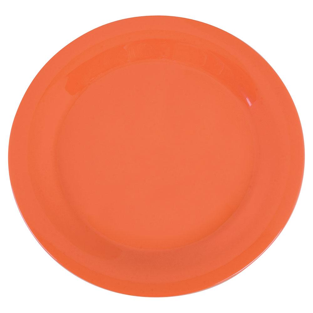 """Carlisle 3300252 10-1/2"""" Sierrus Dinner Plate - Melamine, Sunset Orange"""