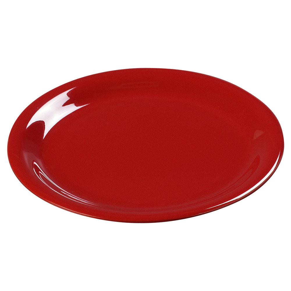 "Carlisle 3300405 9"" Sierrus Dinner Plate - Melamine, Red"