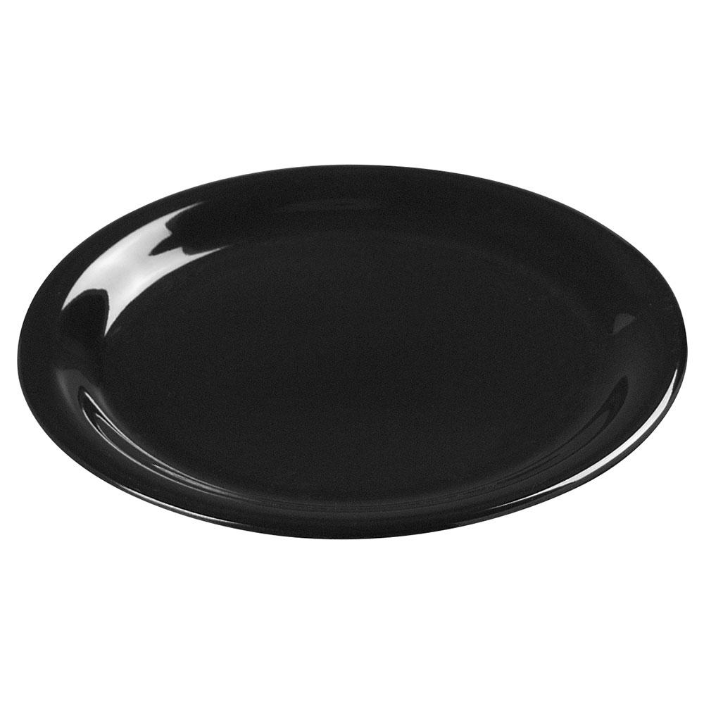 """Carlisle 3300603 7-1/4"""" Sierrus Salad Plate - Melamine, Black"""