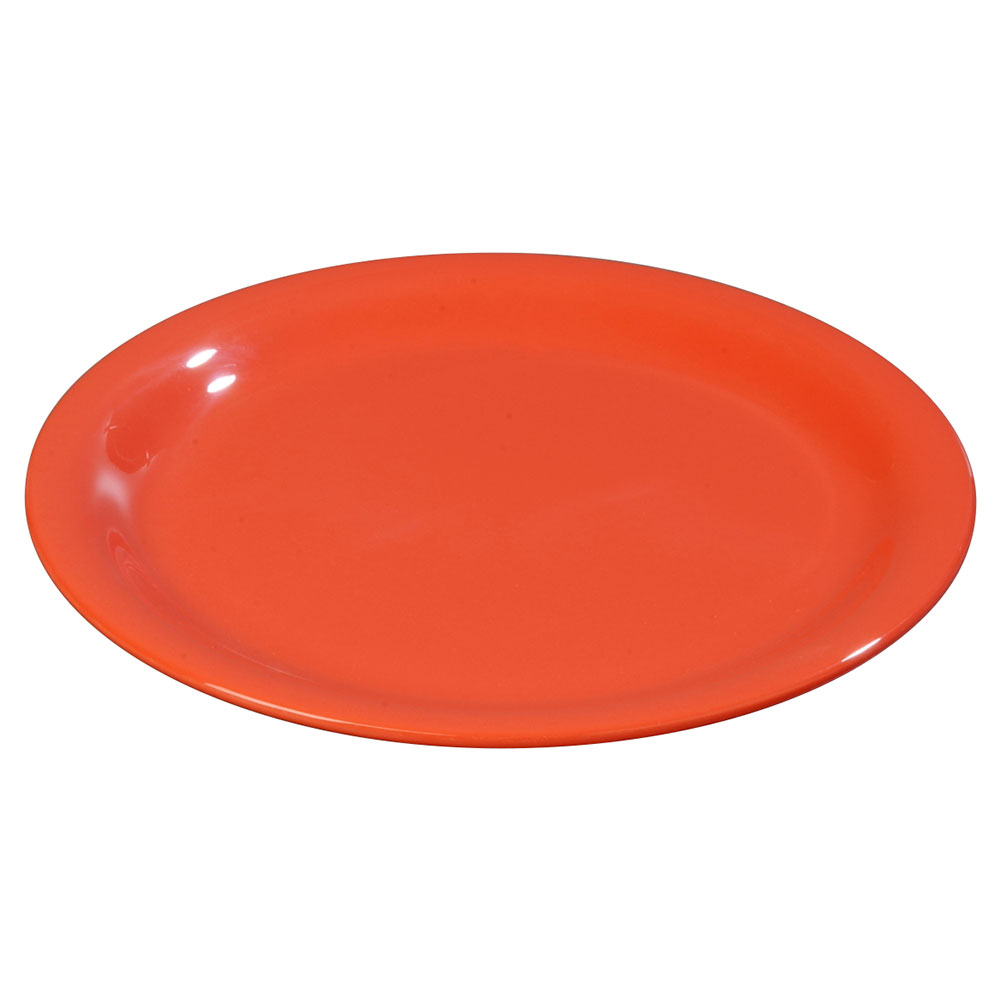 "Carlisle 3300652 7-1/4"" Sierrus Salad Plate - Melamine, Sunset Orange"