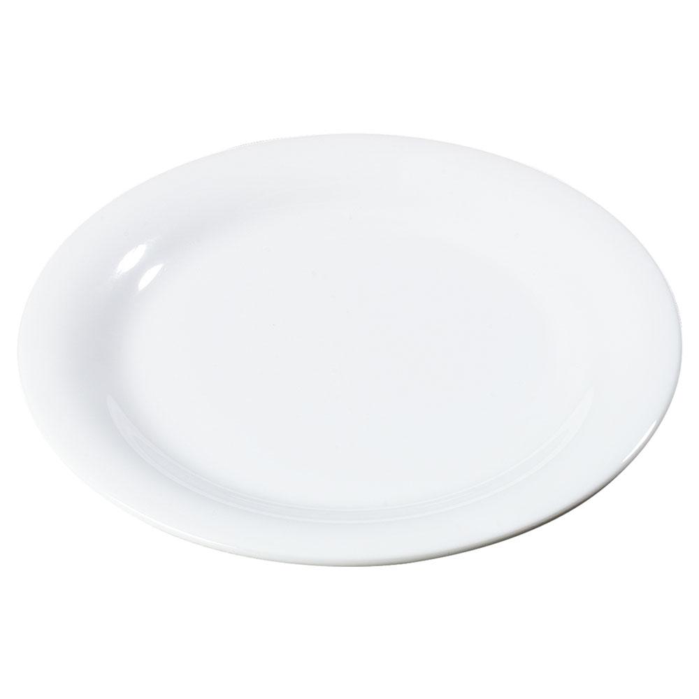 "Carlisle 3300802 6-1/2"" Sierrus Pie Plate - Melamine, White"