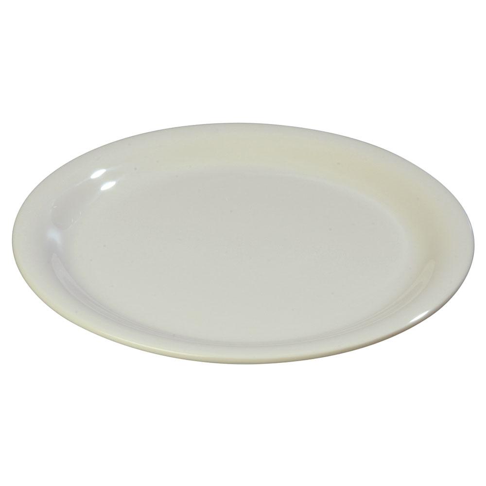"Carlisle 3300842 6-1/2"" Sierrus Pie Plate - Melamine, Bone"