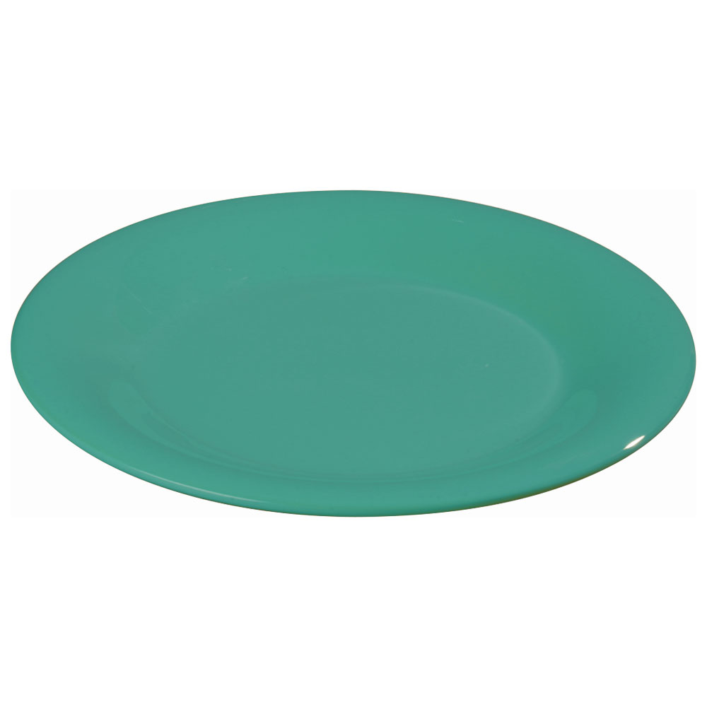 "Carlisle 3301009 10-1/2"" Sierrus Dinner Plate - Wide Rim, Melamine, Meadow Green"