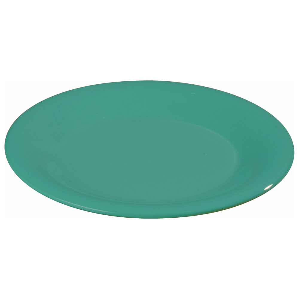 "Carlisle 3301209 9"" Sierrus Dinner Plate - Wide Rim, Melamine, Meadow Green"