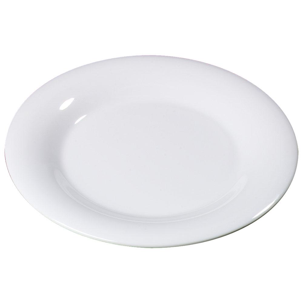 "Carlisle 3301802 6-1/2"" Sierrus Pie Plate - Wide Rim, Melamine, White"
