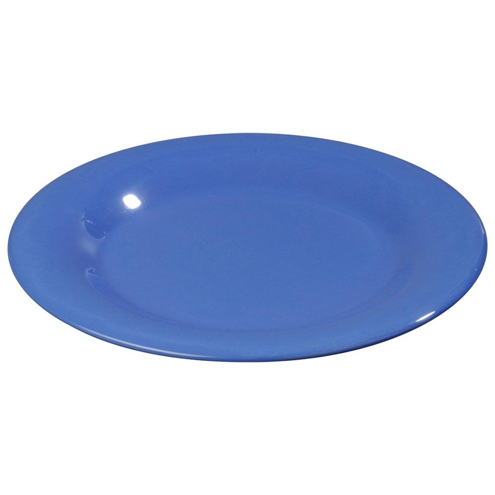 """Carlisle 3301814 6-1/2"""" Sierrus Pie Plate - Wide Rim, Melamine, Ocean Blue"""