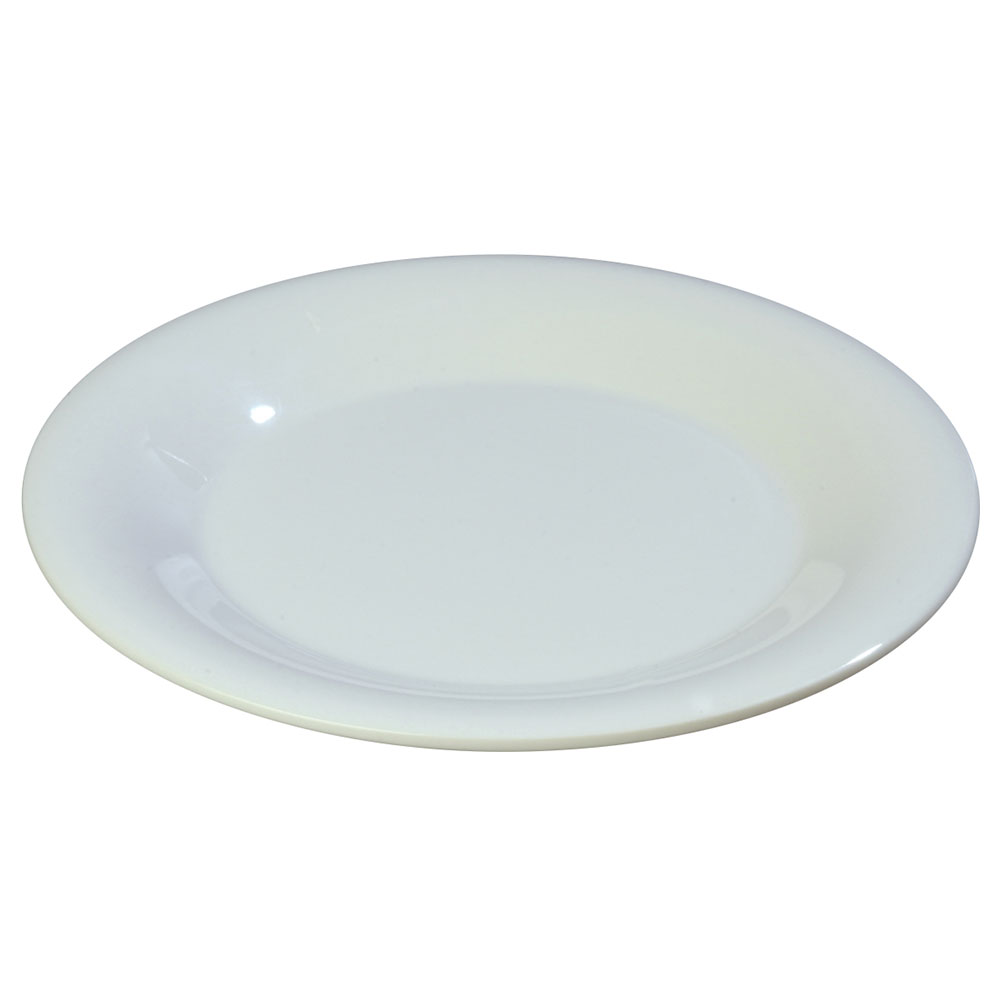 "Carlisle 3302002 5-1/2"" Sierrus Bread/Butter Plate - Wide Rim, Melamine, White"