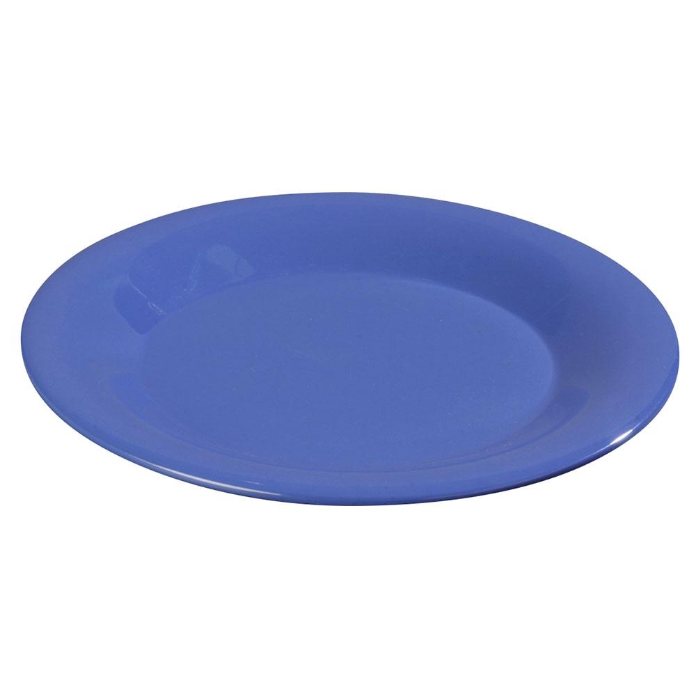"Carlisle 3302014 5-1/2"" Sierrus Bread/Butter Plate - Wide Rime, Melamine, Ocean Blue"