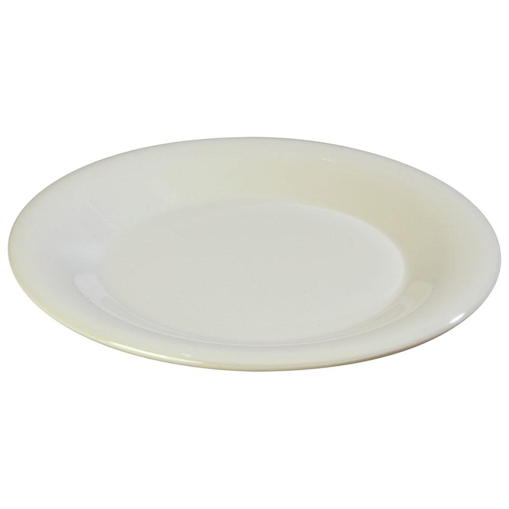 """Carlisle 3302042 5-1/2"""" Sierrus Bread/Butter Plate - Wide Rime, Melamine, Bone"""