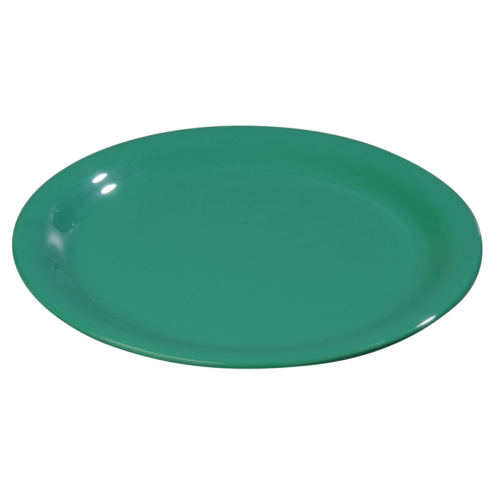 "Carlisle 3302409 12"" Sierrus Dinner Plate - Wide Rim, Melamine, Meadow Green"