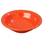 Carlisle 3303252 16-oz Sierrus Rimmed Bowl - Melamine, Sunset Orange