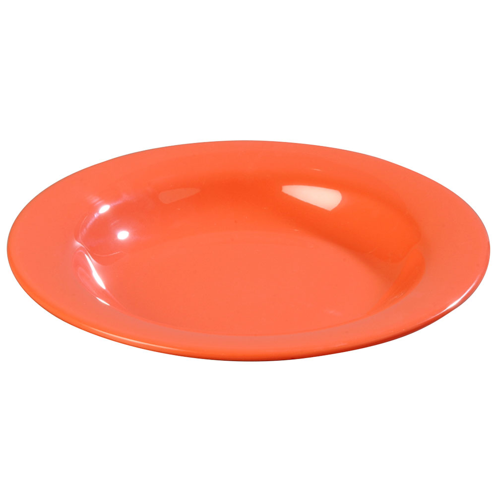 Carlisle 3303452 13-oz Sierrus Pasta/Soup/Salad Bowl - Melamine, Sunset Orange