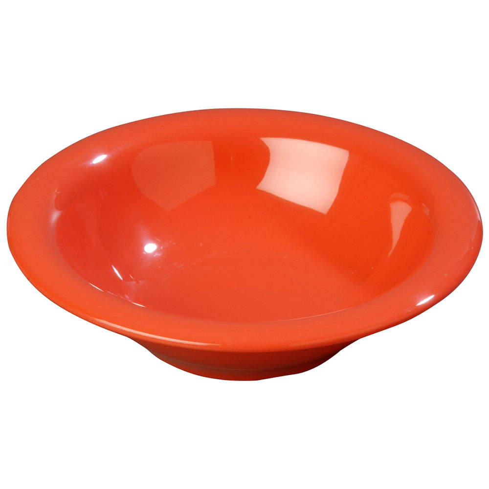Carlisle 3303652 12-oz Sierrus Rimmed Bowl - Melamine, Sunset Orange