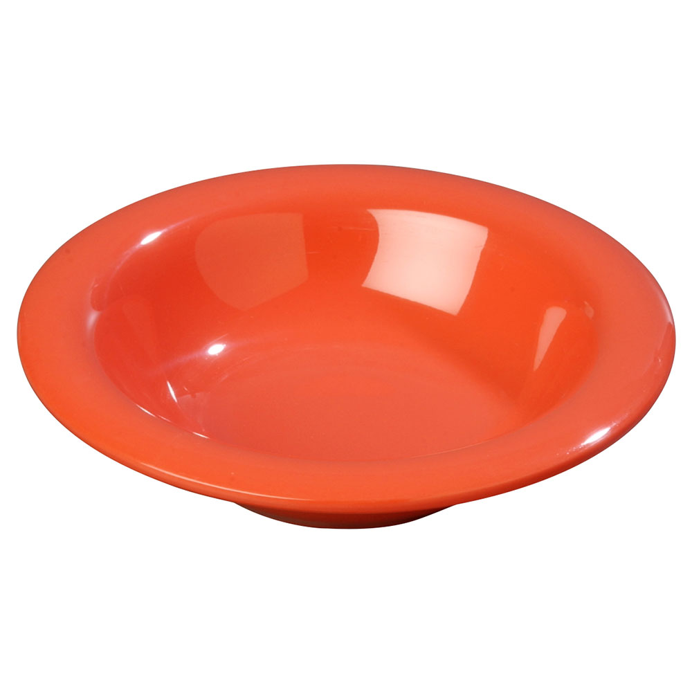 Carlisle 3304052 6-oz Sierrus Rimmed Bowl - Melamine, Sunset Orange