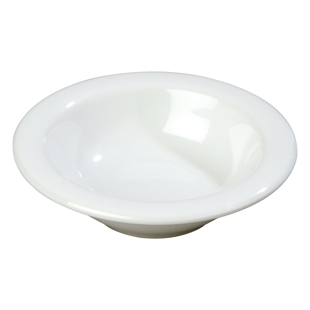 Carlisle 3304202 4-1/2-oz Rimmed Fruit Bowl - Melamine, White