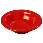 Carlisle 3304205 4-1/2-oz Rimmed Fruit Bowl - Melamine, Red