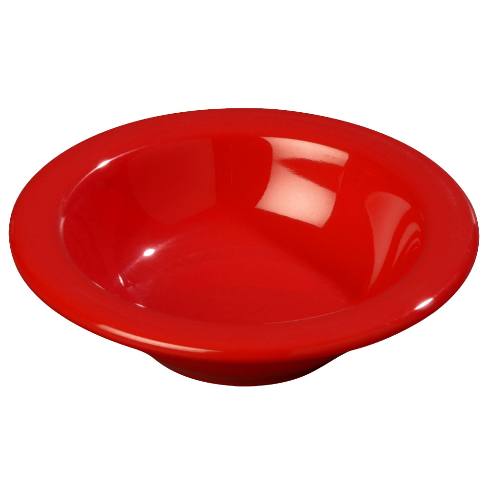 Carlisle 3304205 4-1/2-oz Rimmed Fruit Bowl - Melamine, Red