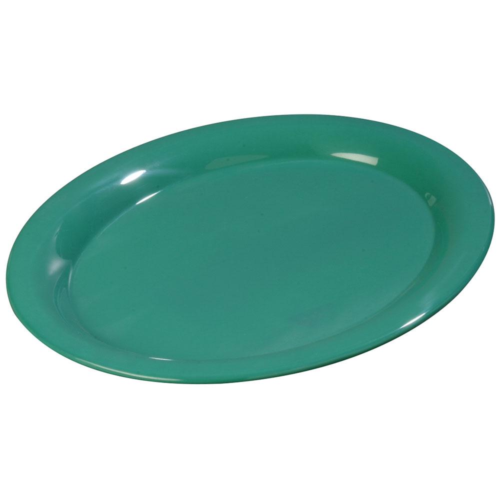 """Carlisle 3308009 Sierrus Oval Platter - 13-1/2x10-1/2"""" Melamine, Meadow Green"""