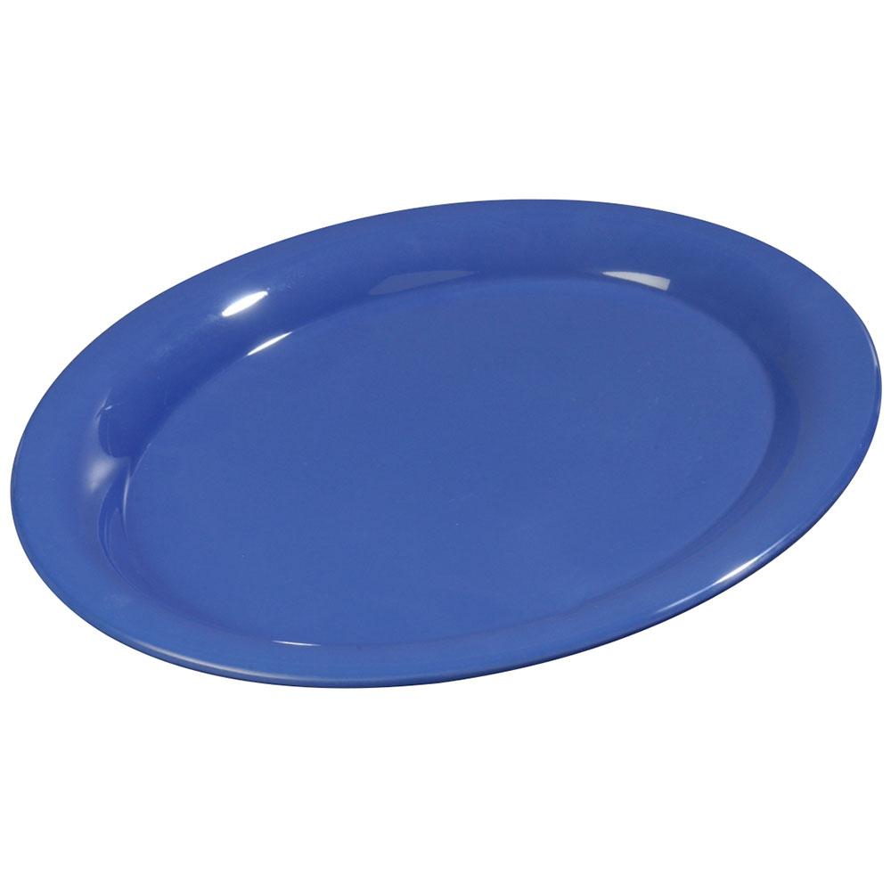 "Carlisle 3308014 Sierrus Oval Platter - 13-1/2x10-1/2"" Melamine, Ocean Blue"