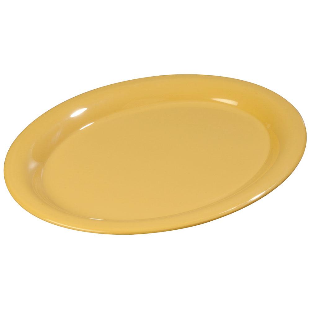 "Carlisle 3308022 Sierrus Oval Platter - 13-1/2x10-1/2"" Melamine, Honey Yellow"