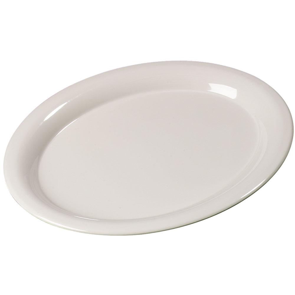 "Carlisle 3308042 Sierrus Oval Platter - 13-1/2x10-1/2"" Melamine, Bone"