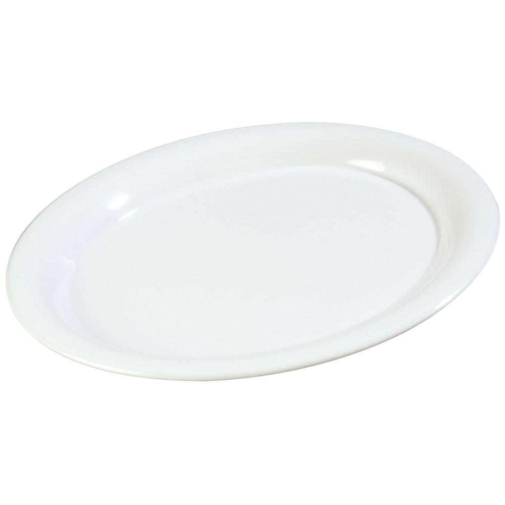 """Carlisle 3308202 Sierrus Oval Platter - 12x9-1/4"""" Melamine, White"""