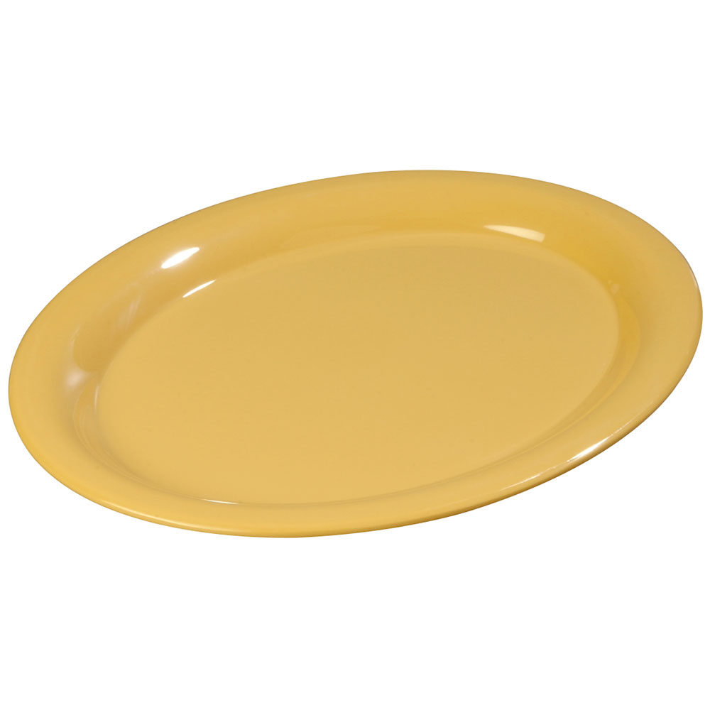 "Carlisle 3308622 Sierrus Oval Platter - 9-1/2x7-1/4"" Melamine, Honey Yellow"