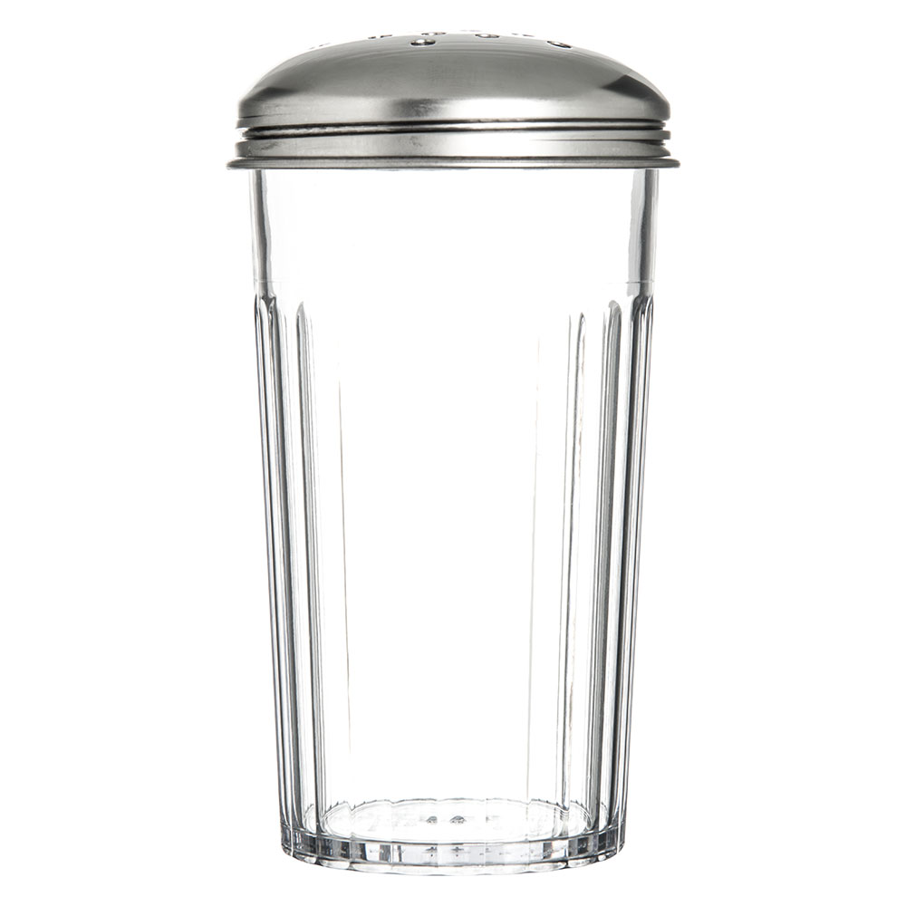 Carlisle 331907 12-oz Cheese Shaker - Stainless/Clear