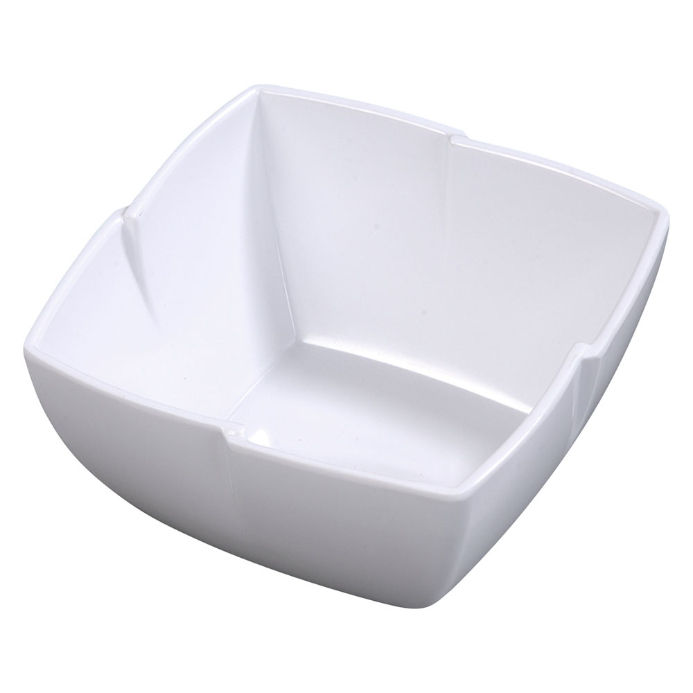 "Carlisle 3331202 10"" Rave Square Serving Bowl - Melamine, White"