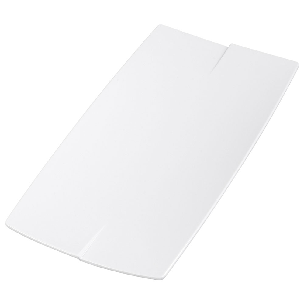 """Carlisle 3332202 Rectangular Rave Platter - 16x7-7/8"""" Melamine, White"""