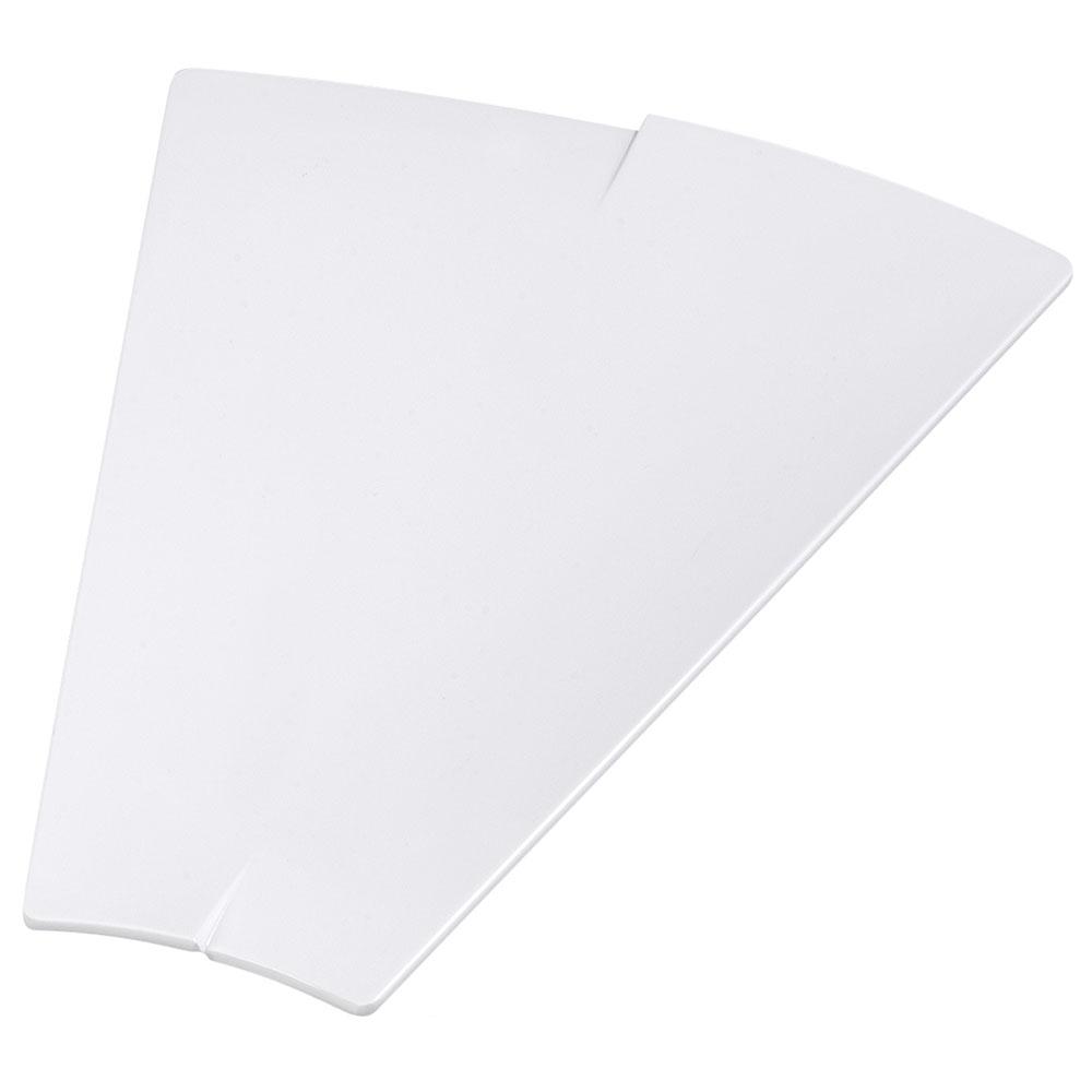 "Carlisle 3332602 Trapezoid Rave Platter - 15-3/8x12"" White"
