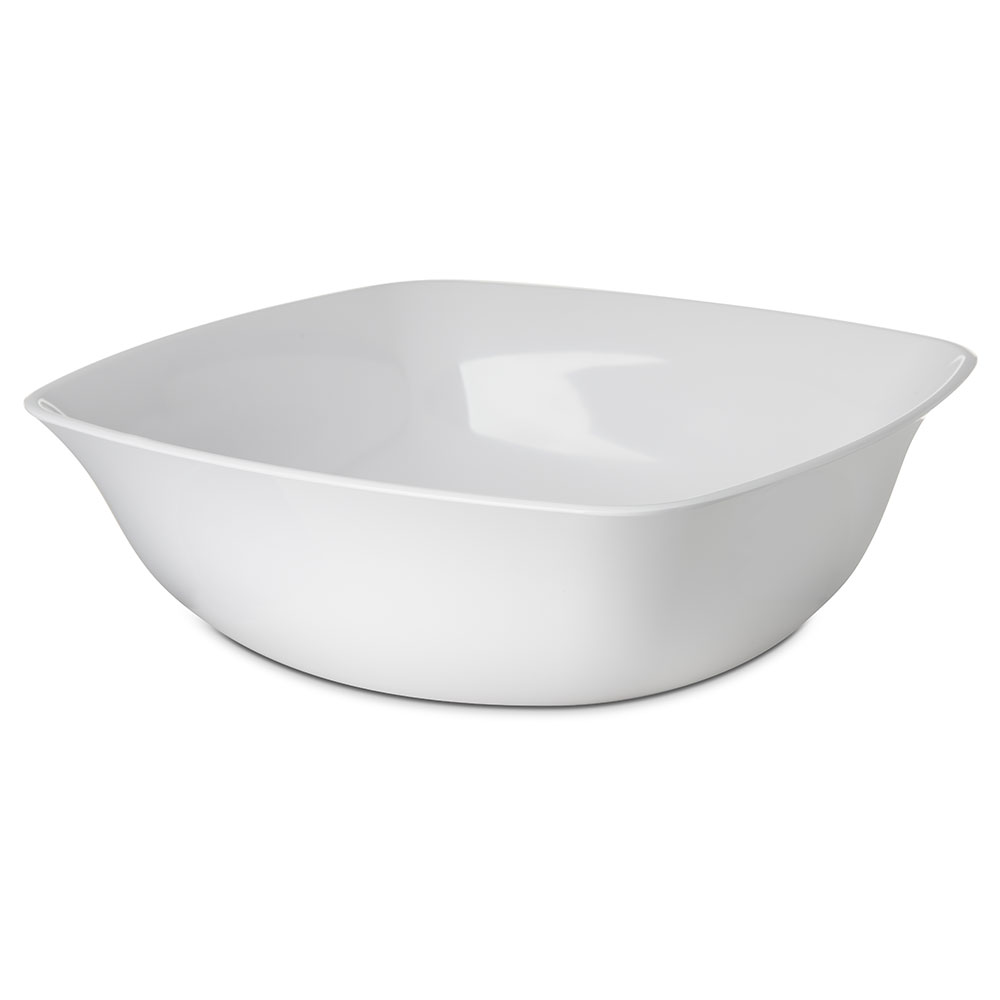 Carlisle 3336002 5-qt Square Flared Bowl - Melamine, White