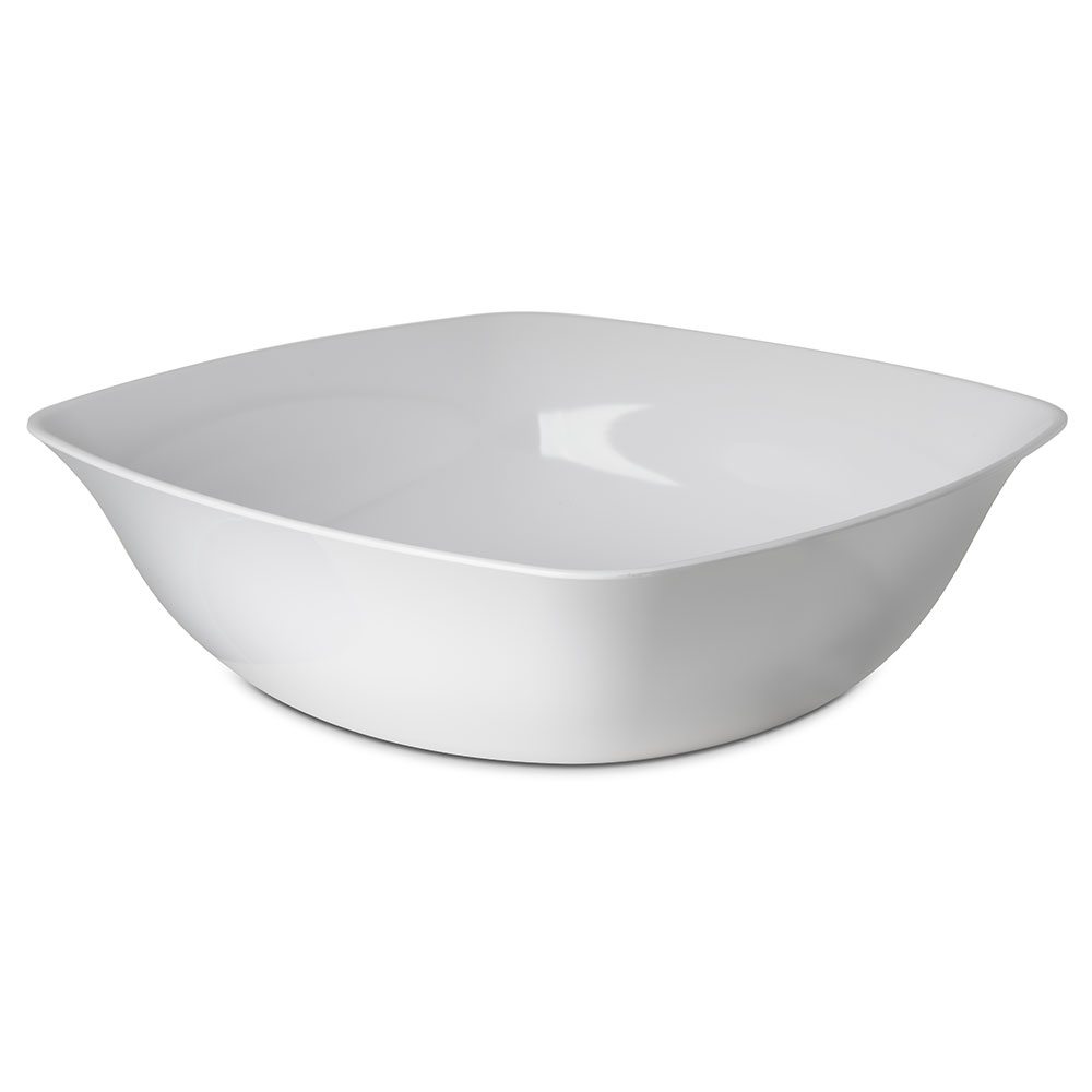 Carlisle 3336402 15-1/2-qt Square Flared Bowl - Melamine, White