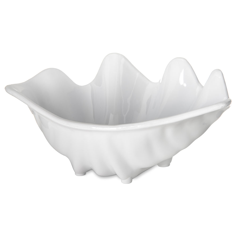 "Carlisle 33902 12-oz Buffet Clam Shell - 8-7/8x5-1/2"" White"