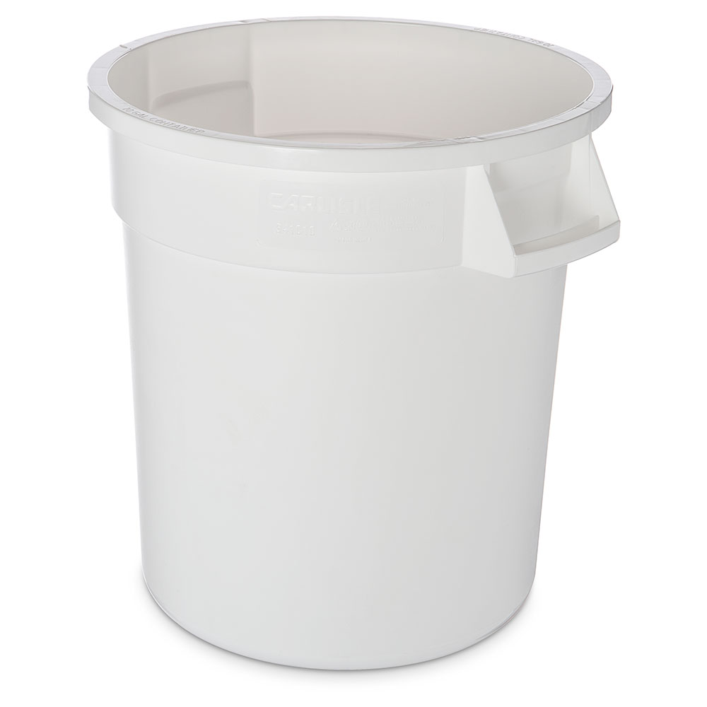 Carlisle 34101002 10-gallon Commercial Trash Can - Plastic, Round, Food Rated