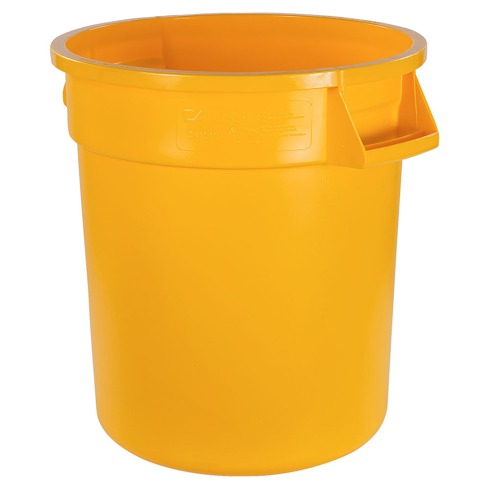 Carlisle 34101004 10-gallon Commercial Trash Can - Plastic, Round, Food Rated