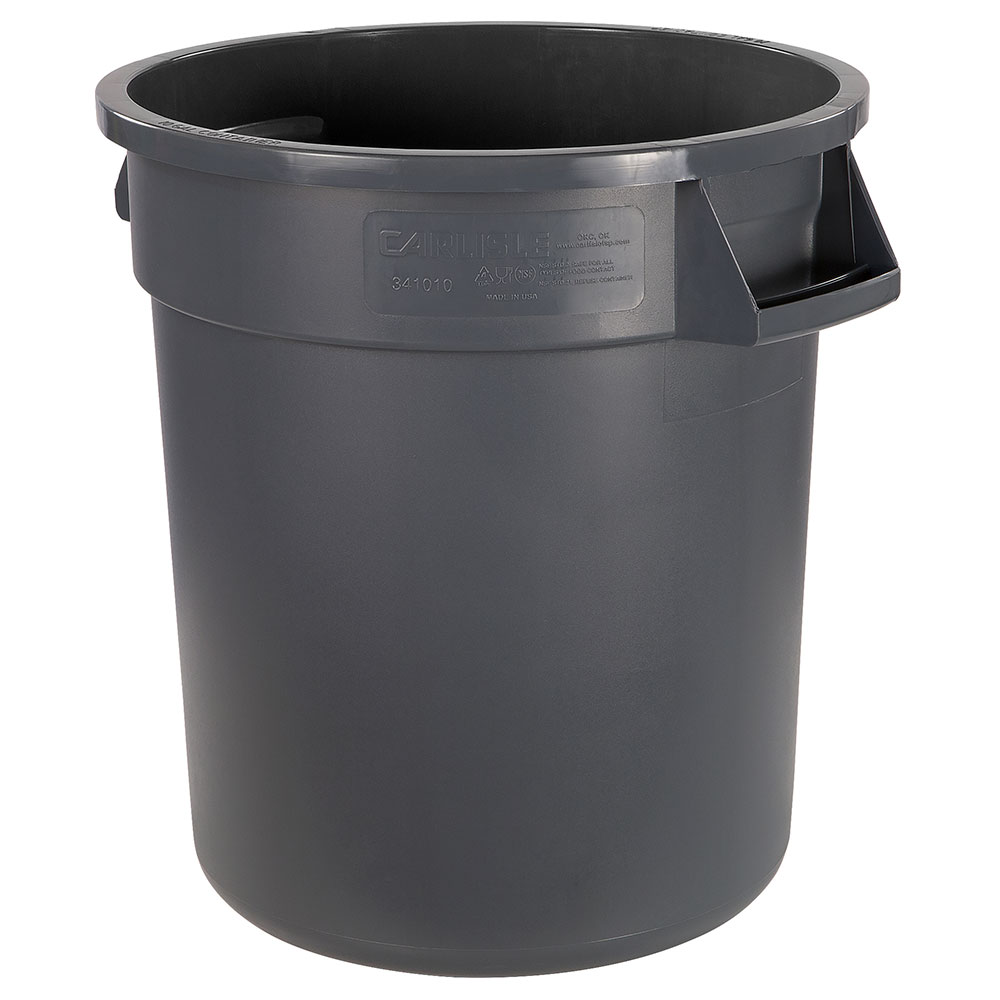 Carlisle 34101023 10-gallon Commercial Trash Can - Plastic, Round, Food Rated
