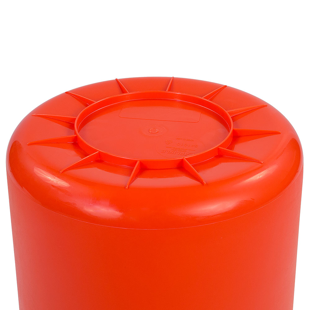 Carlisle 34101024 10-gallon Commercial Trash Can - Plastic, Round, Food Rated