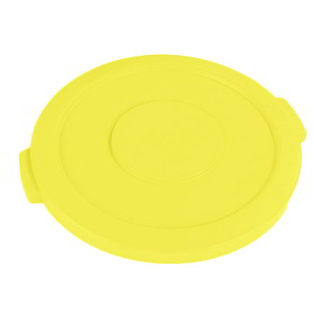 Carlisle 34101104 Round Flat Trash Can Lid - Plastic, Yellow
