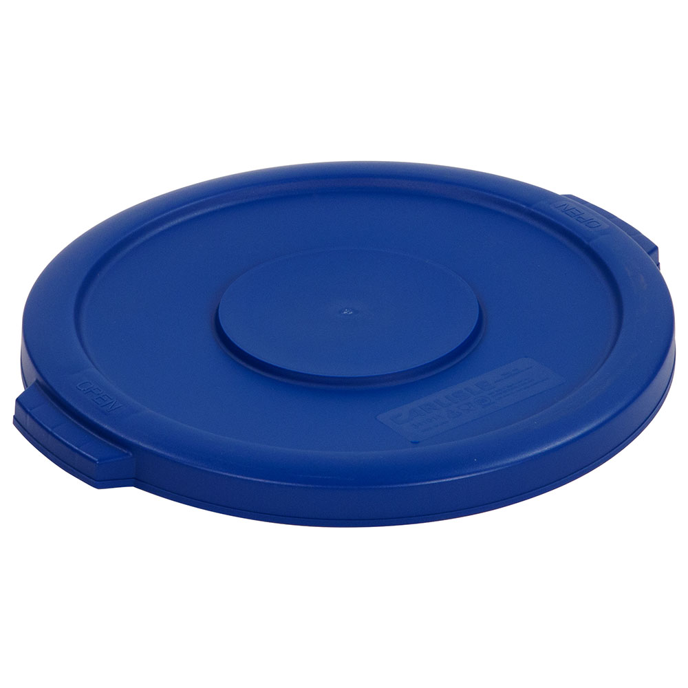 Carlisle 34101114 10-gal Round Waste Container Lid - Polyethylene, Blue