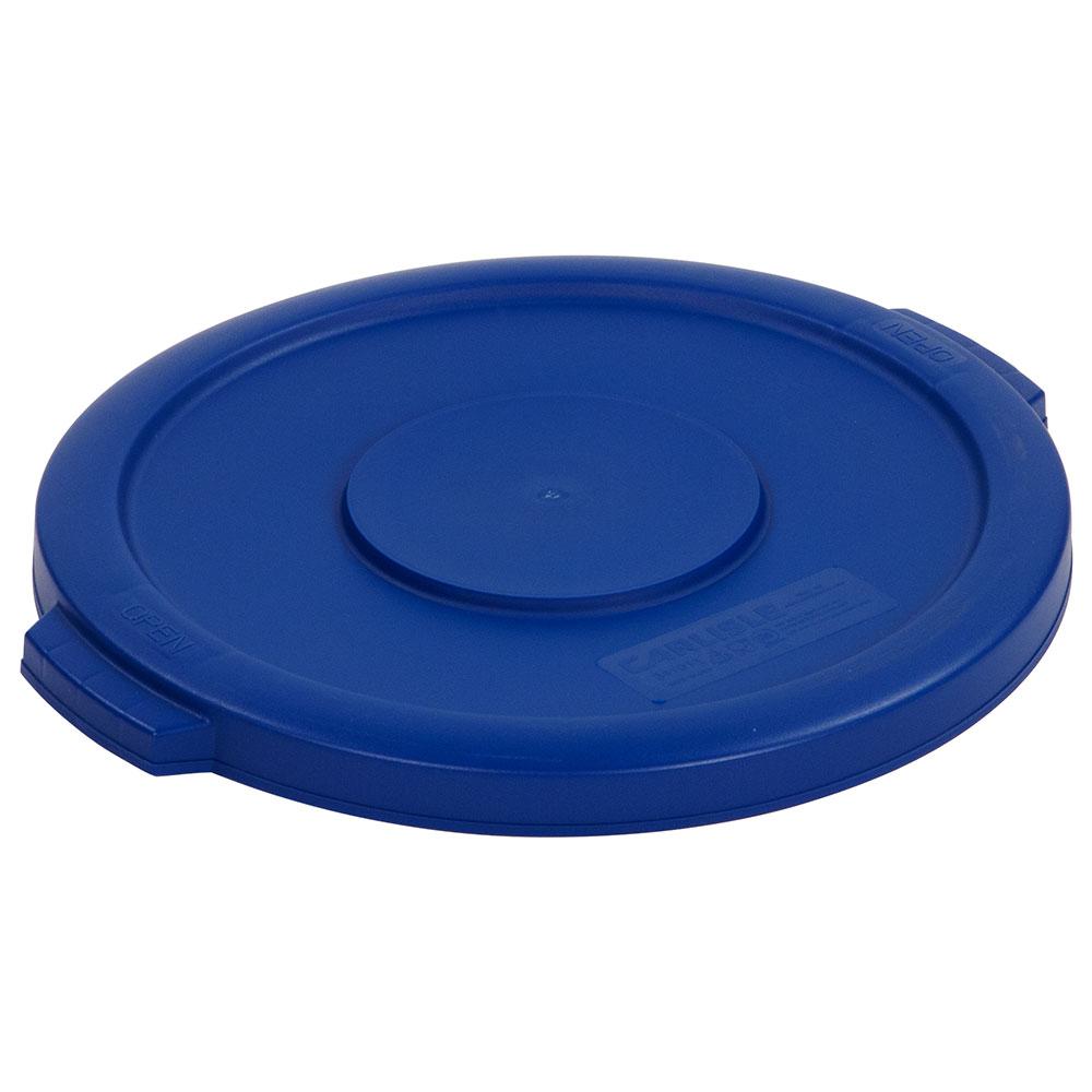 Carlisle 34101114 Round Flat Trash Can Lid - Plastic, Blue