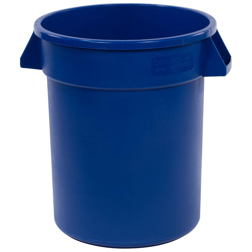 Carlisle 34102014 20-gal Round Waste Container - Polyethylene, Blue